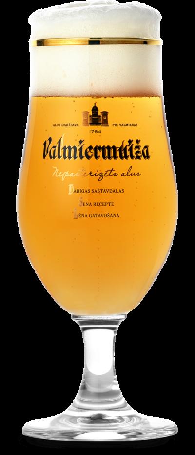 Valmiermuižas stikla alus glāze