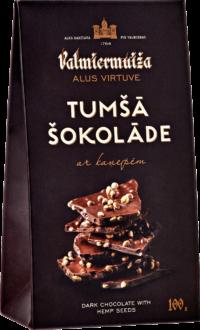 Tumšā šokolāde ar kaņepēm