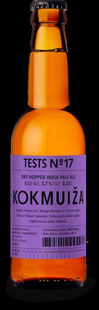 Kokmuižas alus tests Nr. 17 - Dry Hipped IPA