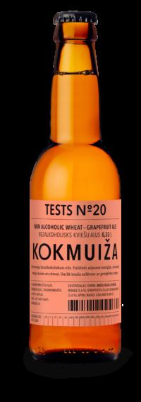 Tests Nr. 20 – bezalkoholisks kviešu-greipfrūtu eils