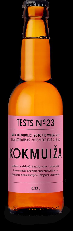 Tests Nr. 23 – bezalkoholisks izotonisks alus